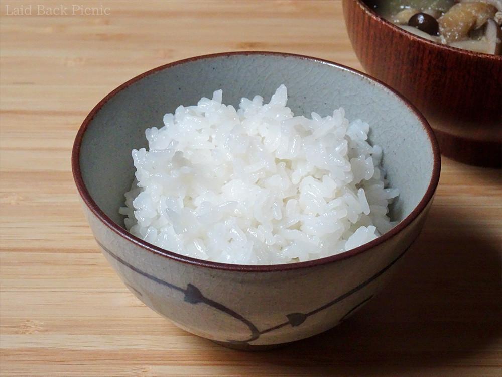 お米が光っている