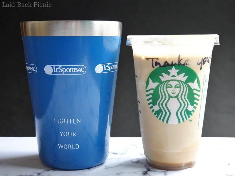 タンブラーと並べるとカップがだいぶ小さく見える