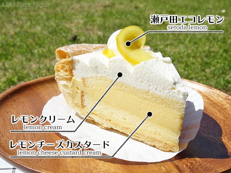 レモンチーズカスタードとレモンクリームを楽しめるパイ