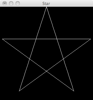 Haskell OpenGL Star