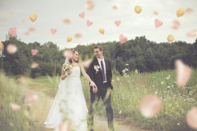 ハートの降る結婚式