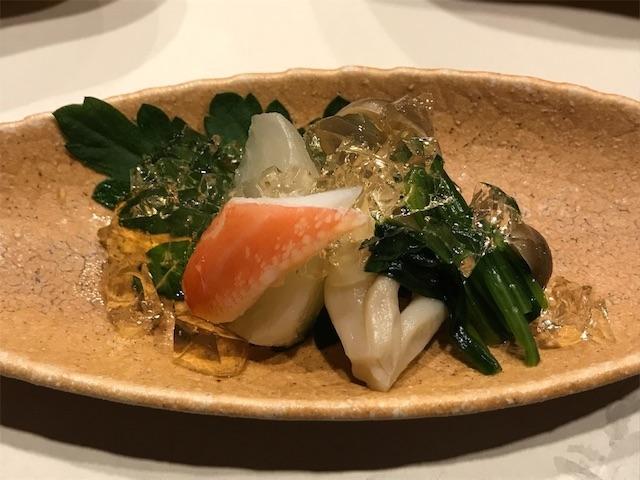 ズワイかにと野菜の土佐酢ジュレ