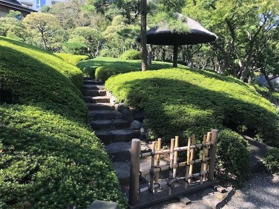 八芳園の庭園(階段)