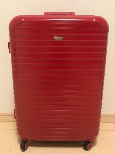 赤いスーツケースの外観