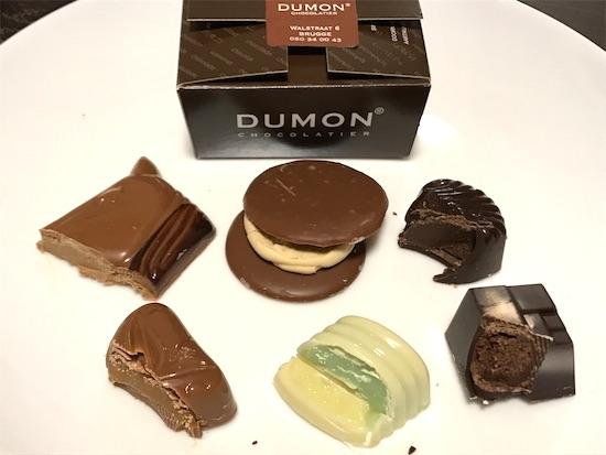 デュモンのチョコの断面6種