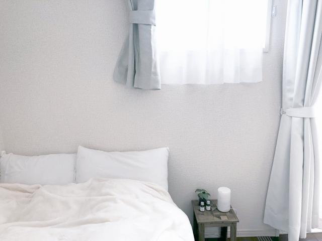 日の当たる寝室