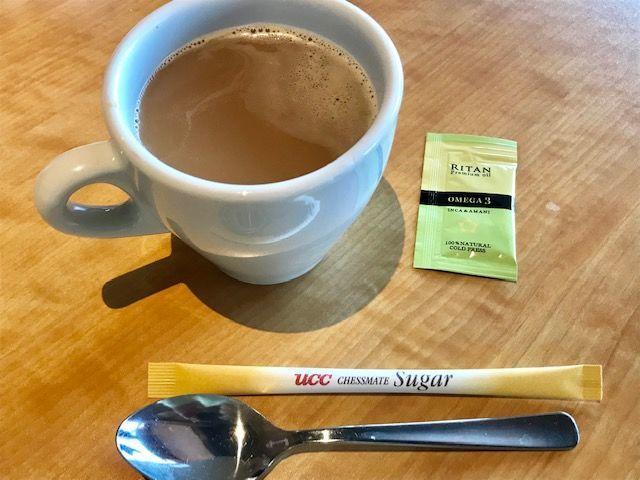 コーヒーとアマニ油