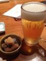 [toc-toc]ビールと突き出し