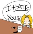 エドワードは牛乳を嫌う!