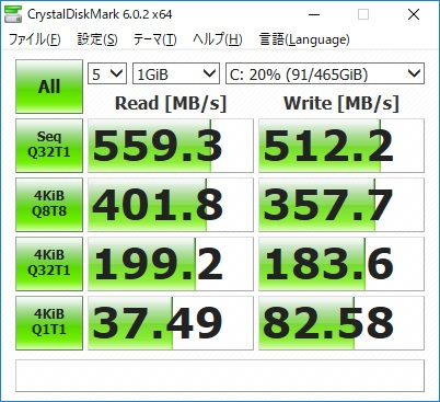 ドスパラ|ガレリアGAMEMASTER GX70R7|SSD