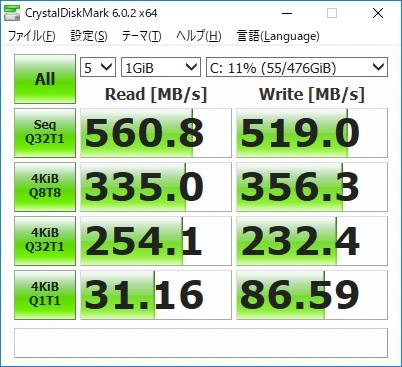 ドスパラ|ガレリアXT|SSD