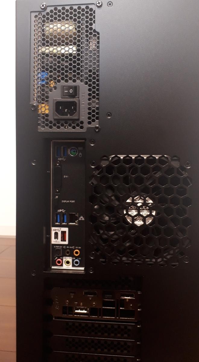 マウスコンピューター|MASTERPIECE i1640GA1-SP|背面