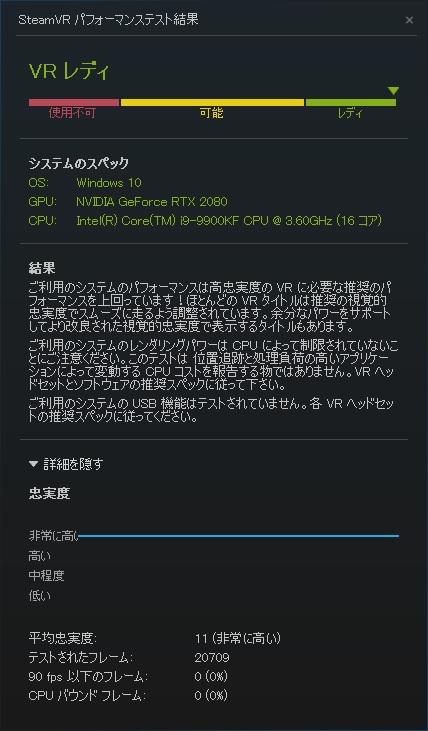 ガレリアZG SteamVR
