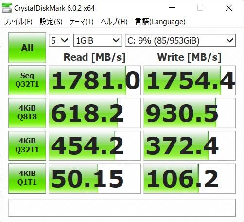 GCR2070RGF-QC-G|SSDベンチマーク