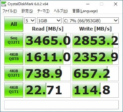 ガレリアZZ|SSDベンチマーク