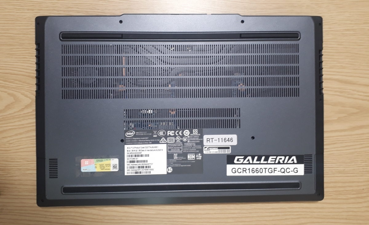 GCR1660TGF-QC-G|裏面