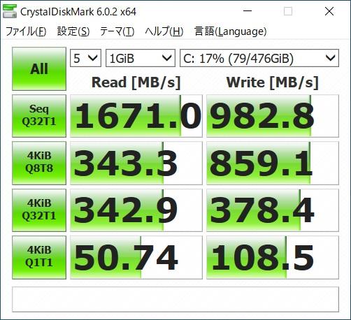 GCR1660TGF-QC-G|SSDベンチマーク