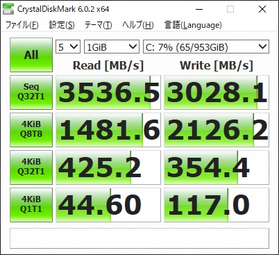 Legion C530|SSD|ベンチマーク