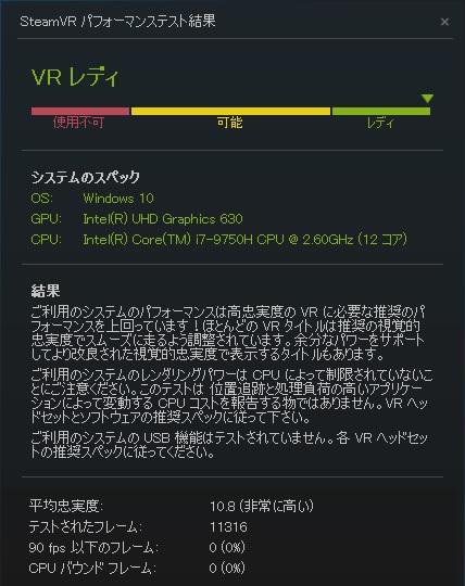 GCR1660TNF-E|VR|ベンチマーク