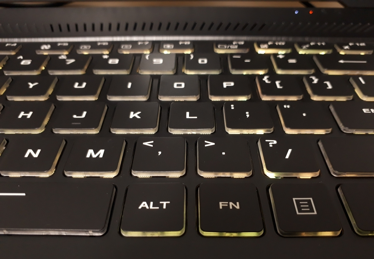 ASUS|TUF Gaming FX505DT|キーボード
