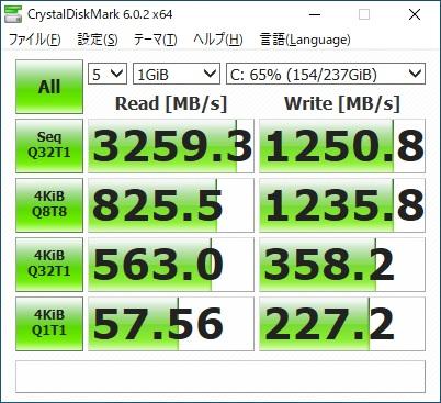 ガレリアRT5 ベンチマーク SSD