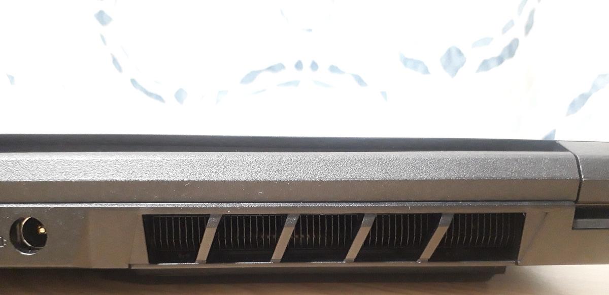 ガレリアGCR1650GF7|背面のヒートシンク