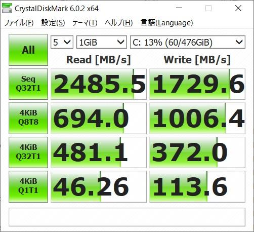 GR1650TGF-T|ベンチマーク|SSD
