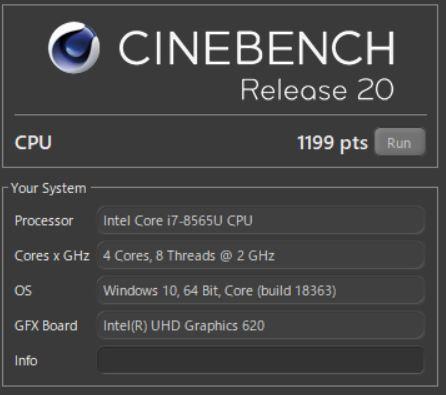 PC-GN1864VAF CPUベンチマーク
