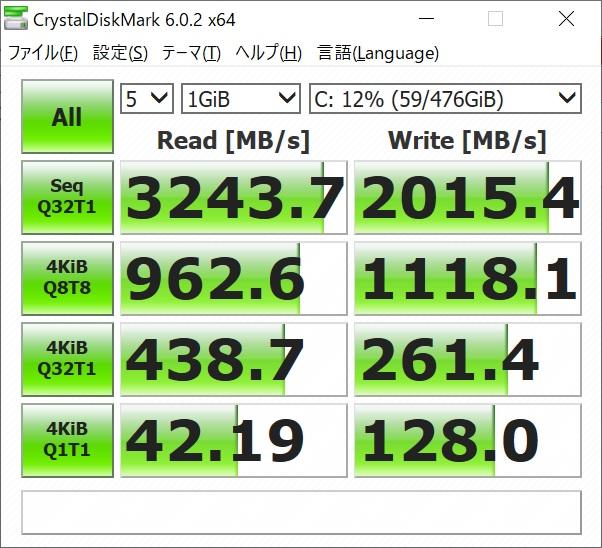 PC-GN1864VAF SSDベンチマーク