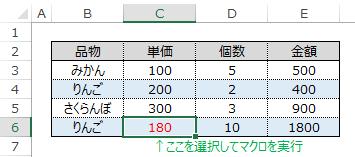 Colorプロパティ生成コードのサンプル表