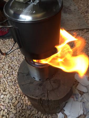 火が付いた
