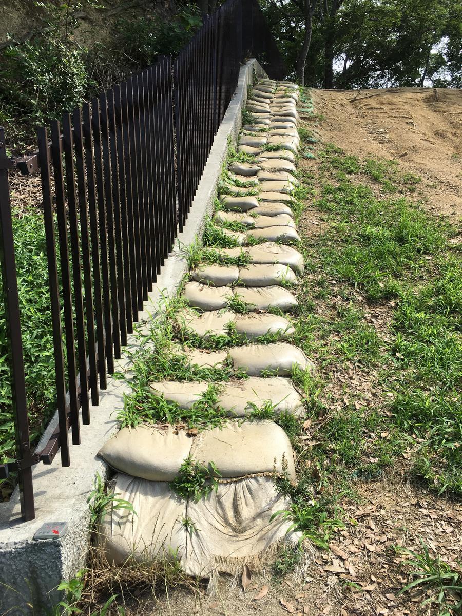 津堂城山古墳の土嚢階段