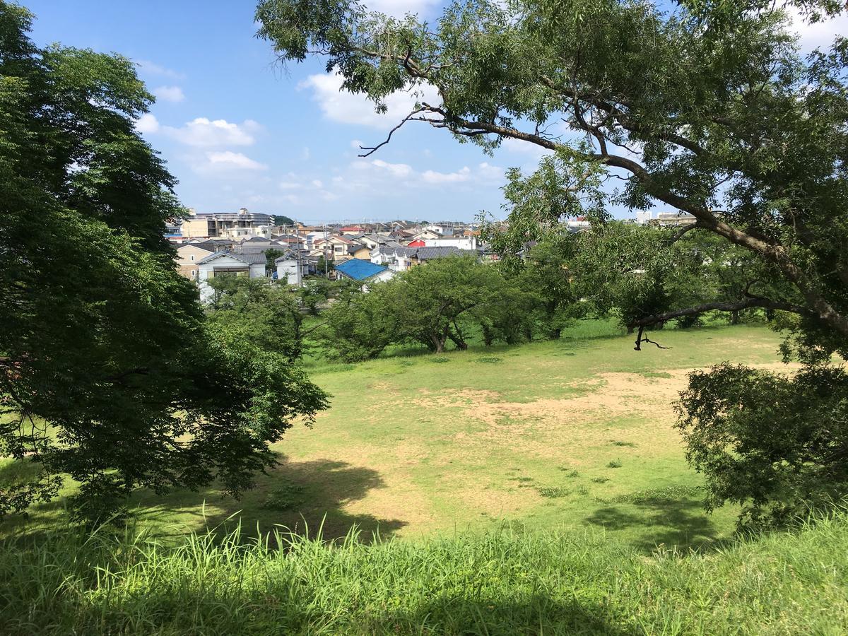 津堂城山古墳の上から見た景色