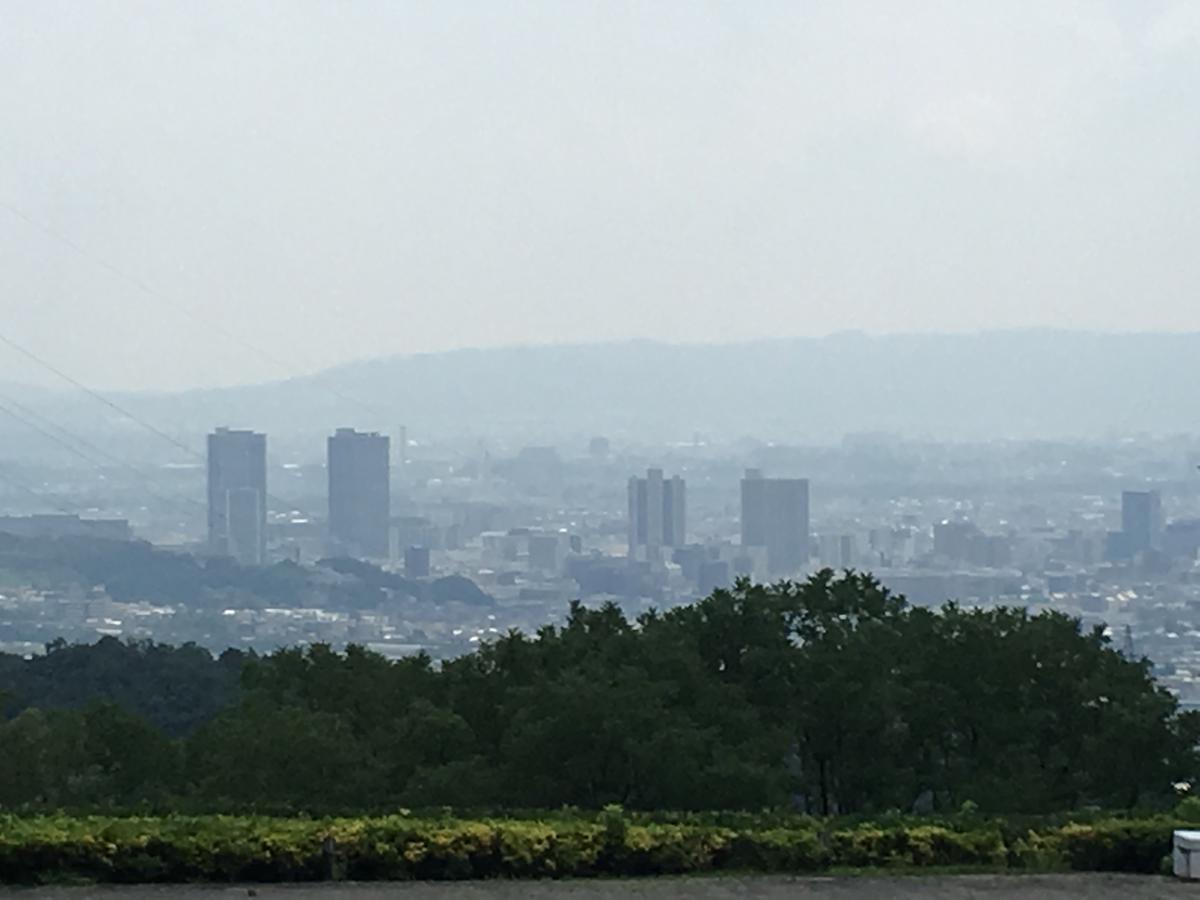 関西大学のキャンパスから見た風景アップ