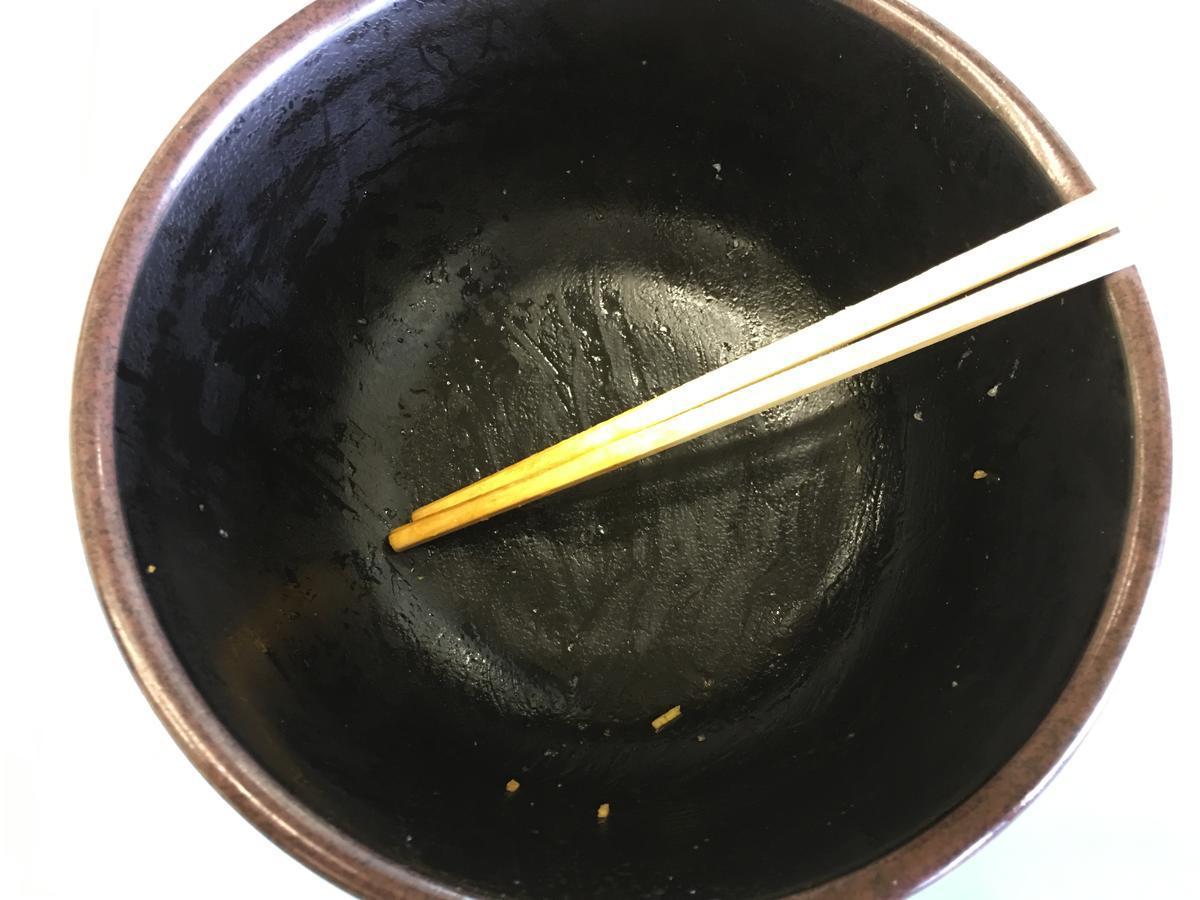 関西大学・高槻キャンパスの学食、からあげ丼を完食
