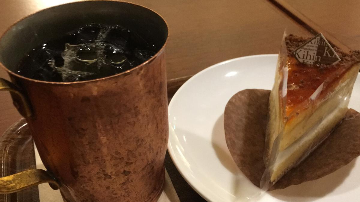 上島珈琲店のケーキセット、くちどけブリュレ3