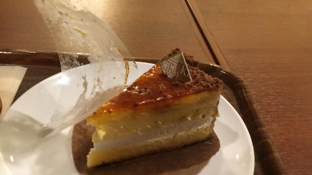 上島珈琲店のくちどけブリュレを食べる2