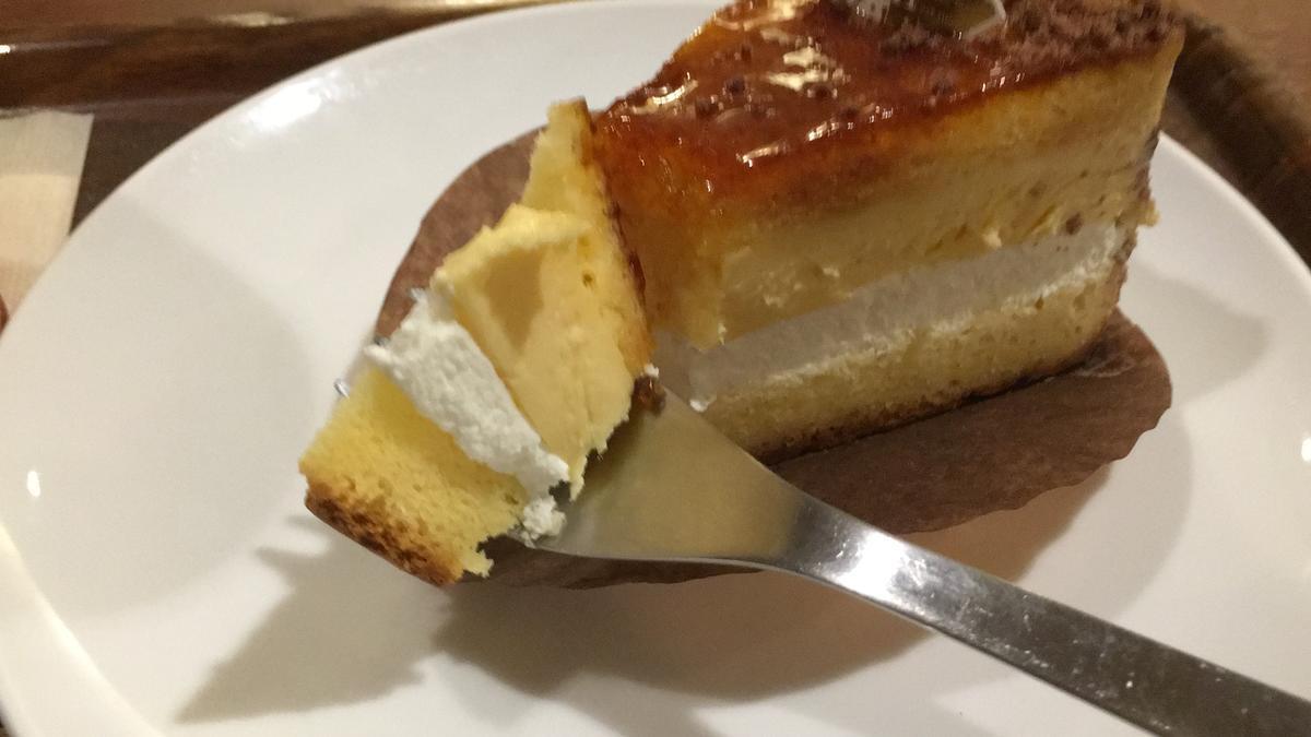 上島珈琲店のくちどけブリュレを食べる11