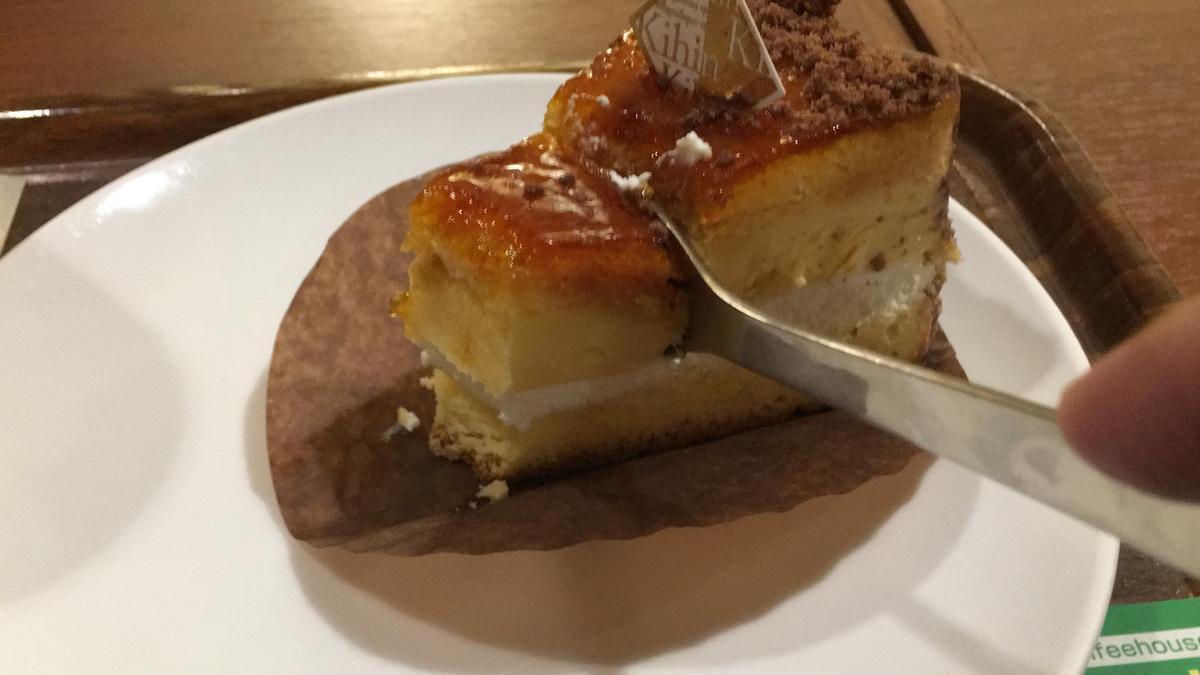 上島珈琲店のくちどけブリュレを食べる14