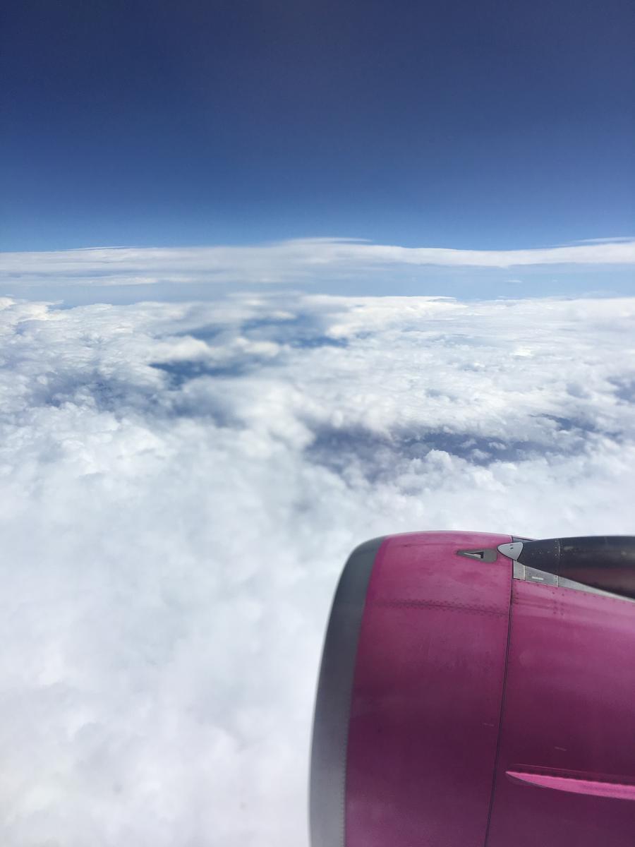 LCC航空会社peachで北海道の新千歳空港へ向かう飛行中2