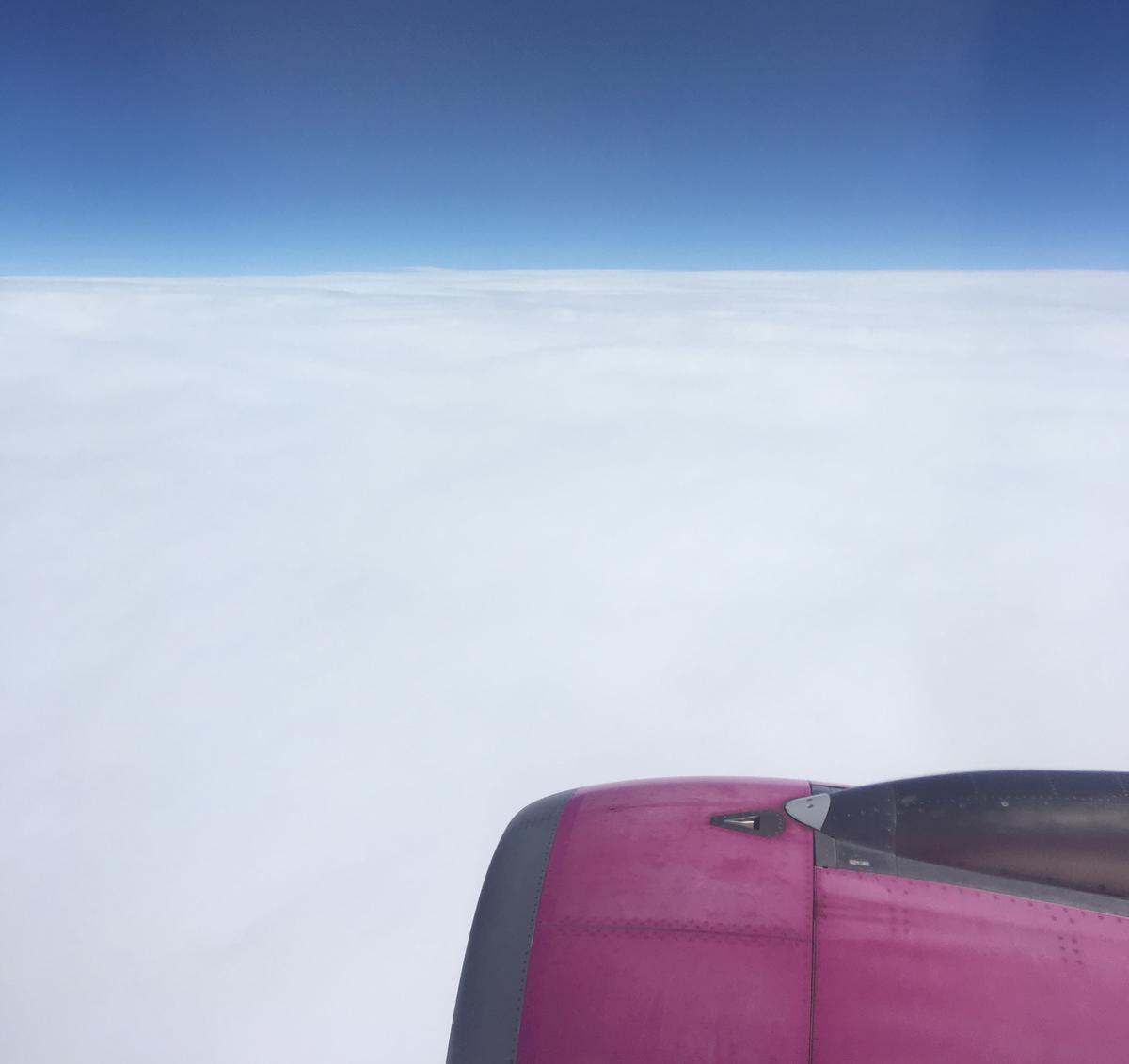LCC航空会社peachで北海道の新千歳空港へ向かう飛行中3