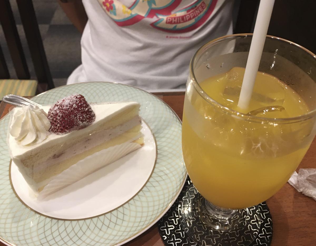 本町の喫茶店・亜羅毘加(アラビカ)のショートケーキセット