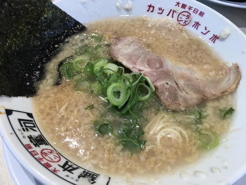 大坂千日前・河童ラーメン(背脂たっぷり)