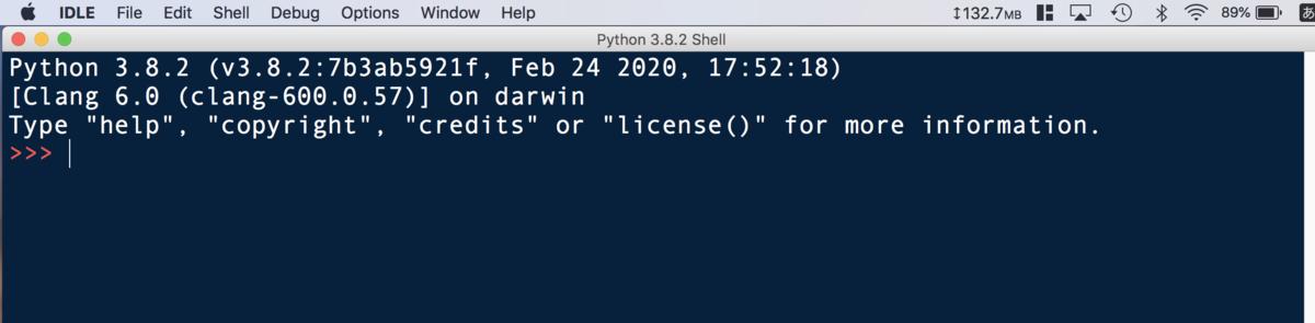 Python・IDLEでコードを書く1