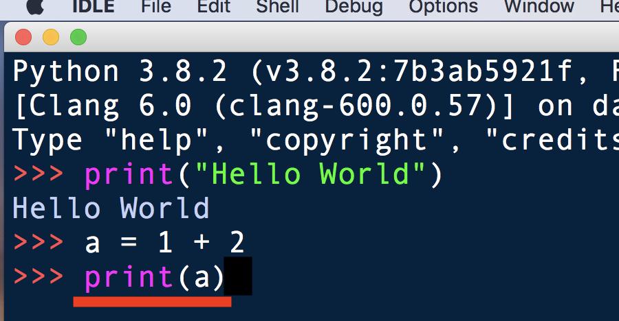 Python・IDLEでコードを書く5