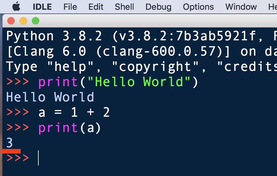 Python・IDLEでコードを書く6