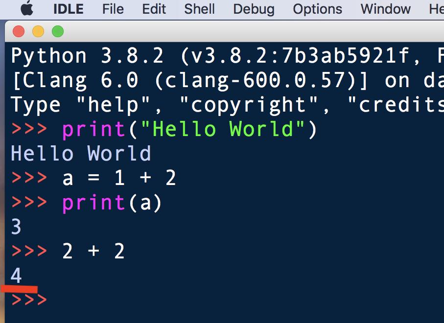 Python・IDLEでコードを書く7