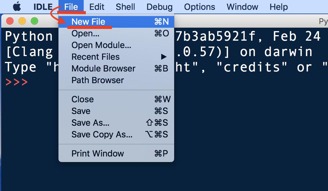 Python・IDLE・エディタウィンドウに直接コードを書く1