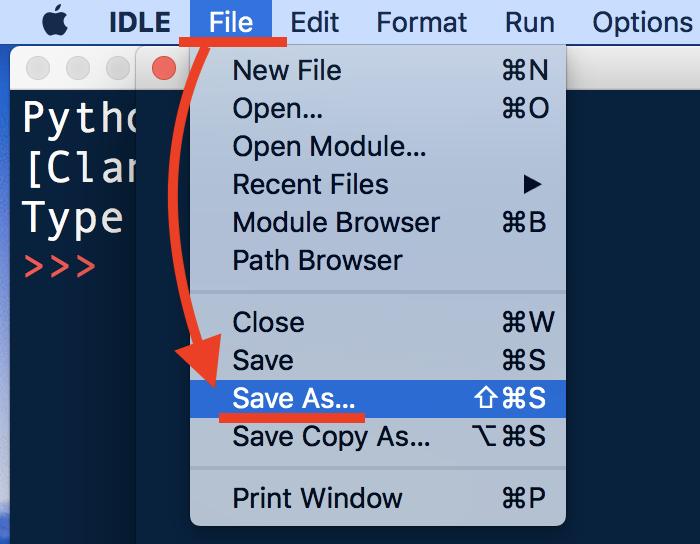 Python・IDLE・エディタウィンドウに直接コードを書く3