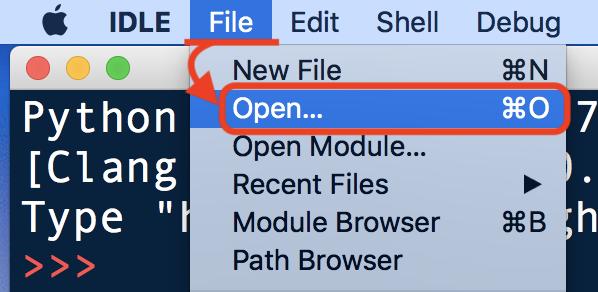 Finderでファイルを開く